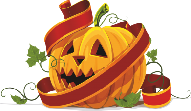 Принт Футболка Поло Halloween pumpkin - FatLine