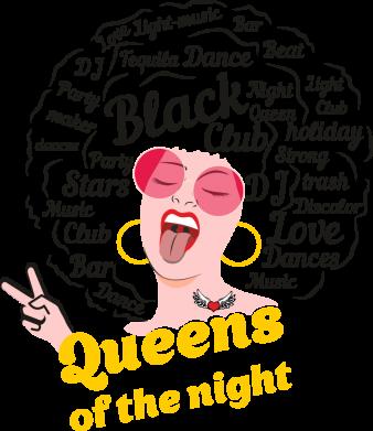 Принт Жіноча футболка Queens of the night, Фото № 1 - FatLine