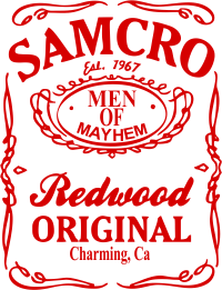 Принт Подушка Сини Анархії Samcro - FatLine