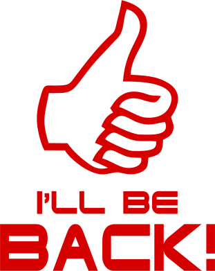 Принт кепка I will be back - FatLine
