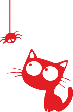 Принт Фартуx Котик і павук - FatLine