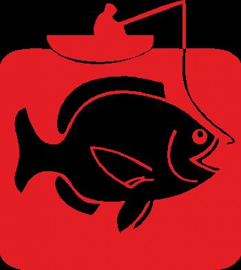 Принт Подушка Рыба на крючке - FatLine
