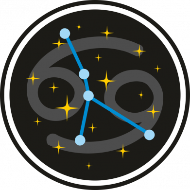 Принт Жіноча футболка Constellation cancer, Фото № 1 - FatLine