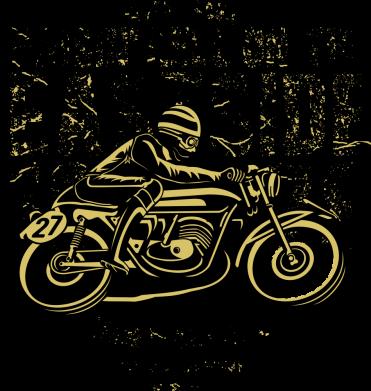 Принт Жіноча футболка Raisin Hell Moto Racer, Фото № 1 - FatLine
