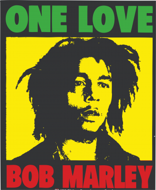Принт Майка-тельняшка Bob Marley One Love - FatLine