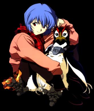 Принт Жіноча футболка Rei Ayanami and Pen Pen, Фото № 1 - FatLine