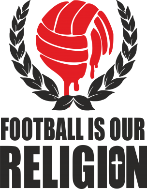 Принт Подушка Football is our religion - FatLine