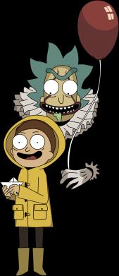 Принт Женская футболка Rick and Morty: It 2, Фото № 1 - FatLine