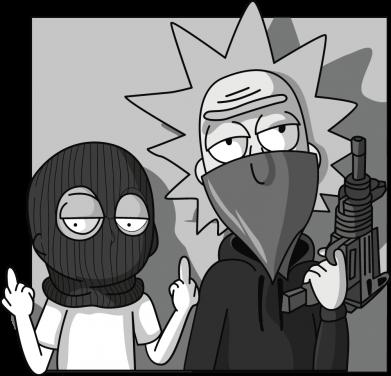 Принт Женская футболка Rick and Morty Bandits, Фото № 1 - FatLine
