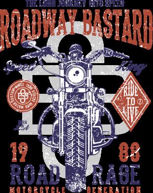 Принт Жіноча футболка Roadway Bastard, Фото № 1 - FatLine