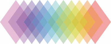 Принт Жіноча футболка Gradient color transition rhombus, Фото № 1 - FatLine