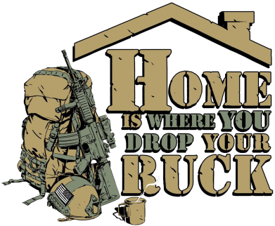 Принт Фартук Home is where you drop your ruck - FatLine