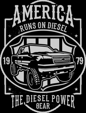 Принт Жіноча футболка Runs On Diesel, Фото № 1 - FatLine