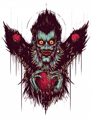 Принт Женская футболка Ryuk the god of death, Фото № 1 - FatLine