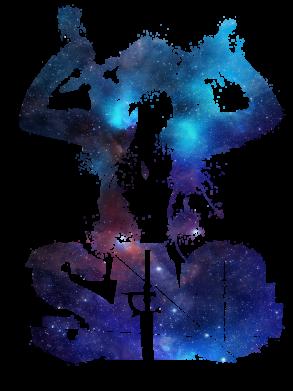 Принт Жіноча футболка Sword Art Online space, Фото № 1 - FatLine