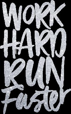 Принт Жіноча футболка Work hard run faster, Фото № 1 - FatLine
