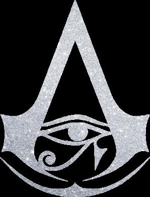 Принт Жіноча футболка Assassin's Creed Origins logo, Фото № 1 - FatLine