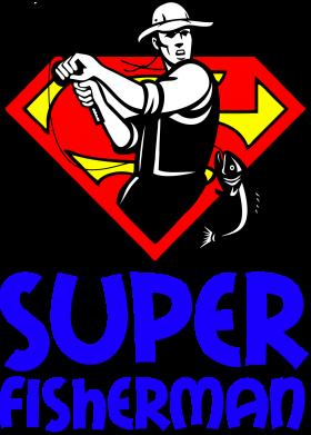 Принт Тельняшка с длинным рукавом Super FisherMan - FatLine