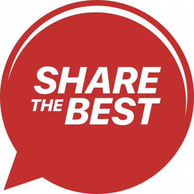 Принт Женская футболка Share the best, Фото № 1 - FatLine