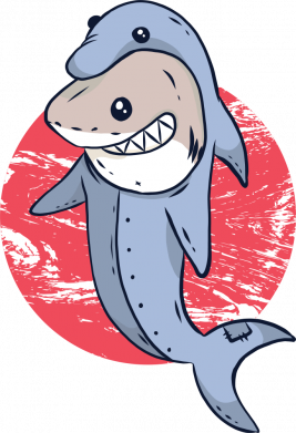 Принт Женская футболка Shark or dolphin, Фото № 1 - FatLine