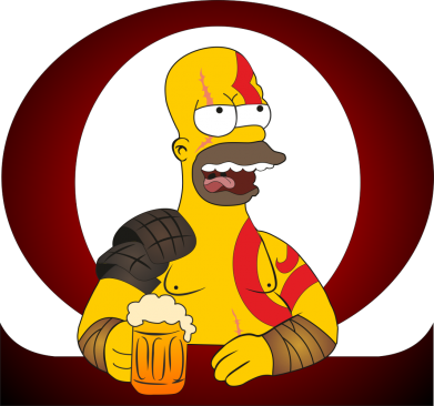 Принт Жіноча футболка God of war: Simpson, Фото № 1 - FatLine