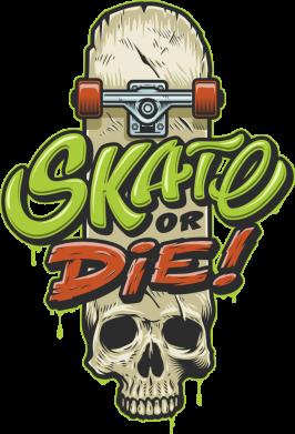Принт Жіноча футболка Skate or die skull, Фото № 1 - FatLine