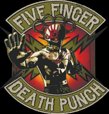 Принт Женская футболка Five finger death punch, Фото № 1 - FatLine