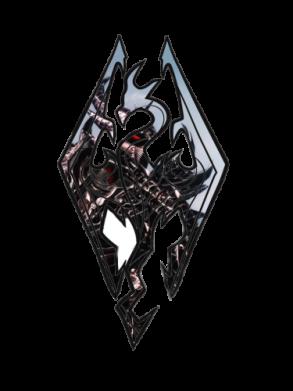 Принт Тельняшка с длинным рукавом Skyrim Logo - FatLine