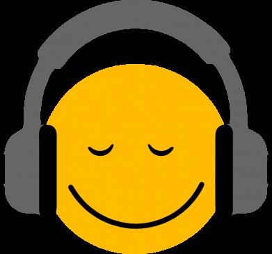 Принт Женская футболка Smile in the headphones, Фото № 1 - FatLine