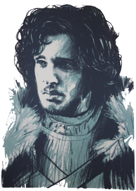 Принт Фартук Jon Snow Art - FatLine