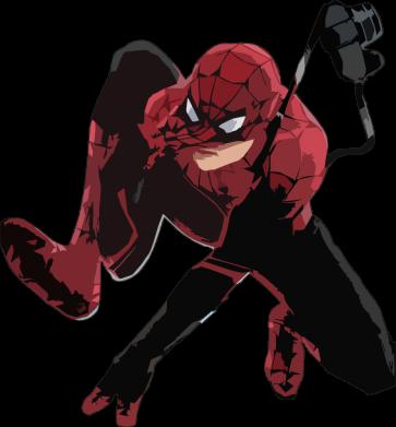 Принт Женская футболка Spiderman flat vector, Фото № 1 - FatLine
