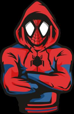 Принт Жіноча футболка Людина павук в толстовці, Фото № 1 - FatLine