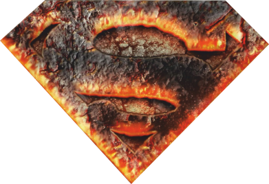 Принт Реглан Superman and Fire - FatLine