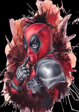 Принт Мужская майка Стесняшка Deadpool - FatLine