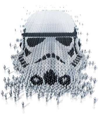Принт Футболка с длинным рукавом Storm Troopers - FatLine