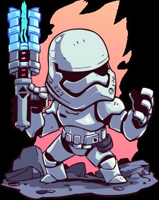 Принт Жіноча футболка Stormtrooper chibi, Фото № 1 - FatLine