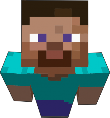 Принт Шапка Steve from Minecraft - FatLine