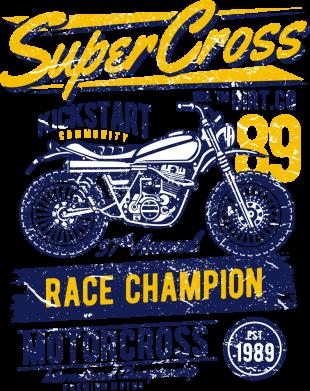 Принт Жіноча футболка Super Cross 1989, Фото № 1 - FatLine