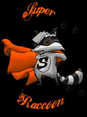 Принт Женская футболка Super raccoon, Фото № 1 - FatLine