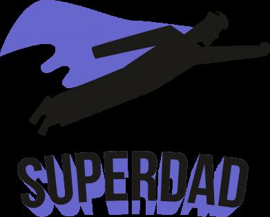 Принт Жіноча футболка Super dad flies, Фото № 1 - FatLine
