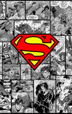 Принт Реглан синий (L) Superman Человек из стали - FatLine