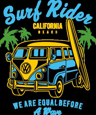 Принт Жіноча футболка Surf Rider, Фото № 1 - FatLine