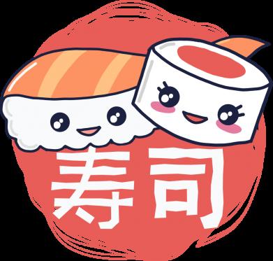 Принт Женская футболка Happy sushi, Фото № 1 - FatLine