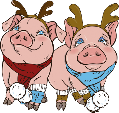 Принт Жіноча футболка Pigs, Фото № 1 - FatLine