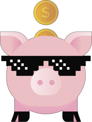 Принт Жіноча футболка Piggy bank, Фото № 1 - FatLine