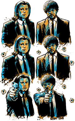 Принт Подушка Pulp Fiction by Tarantino - FatLine