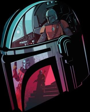 Принт Женская футболка Mandalorian Helmet profil, Фото № 1 - FatLine