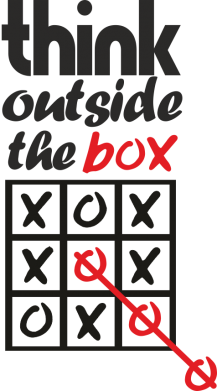 Принт Толстовка Think outside the box - FatLine