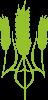 Герб України з колосками пшениці