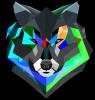 Сolorful wolf